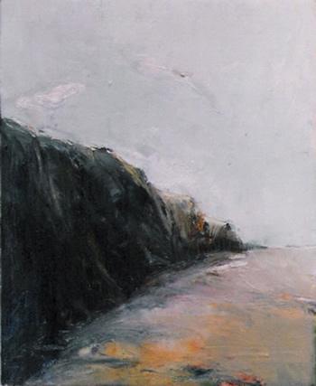 Acantilados, cuadro de Jandro López, óleo sobre tabla